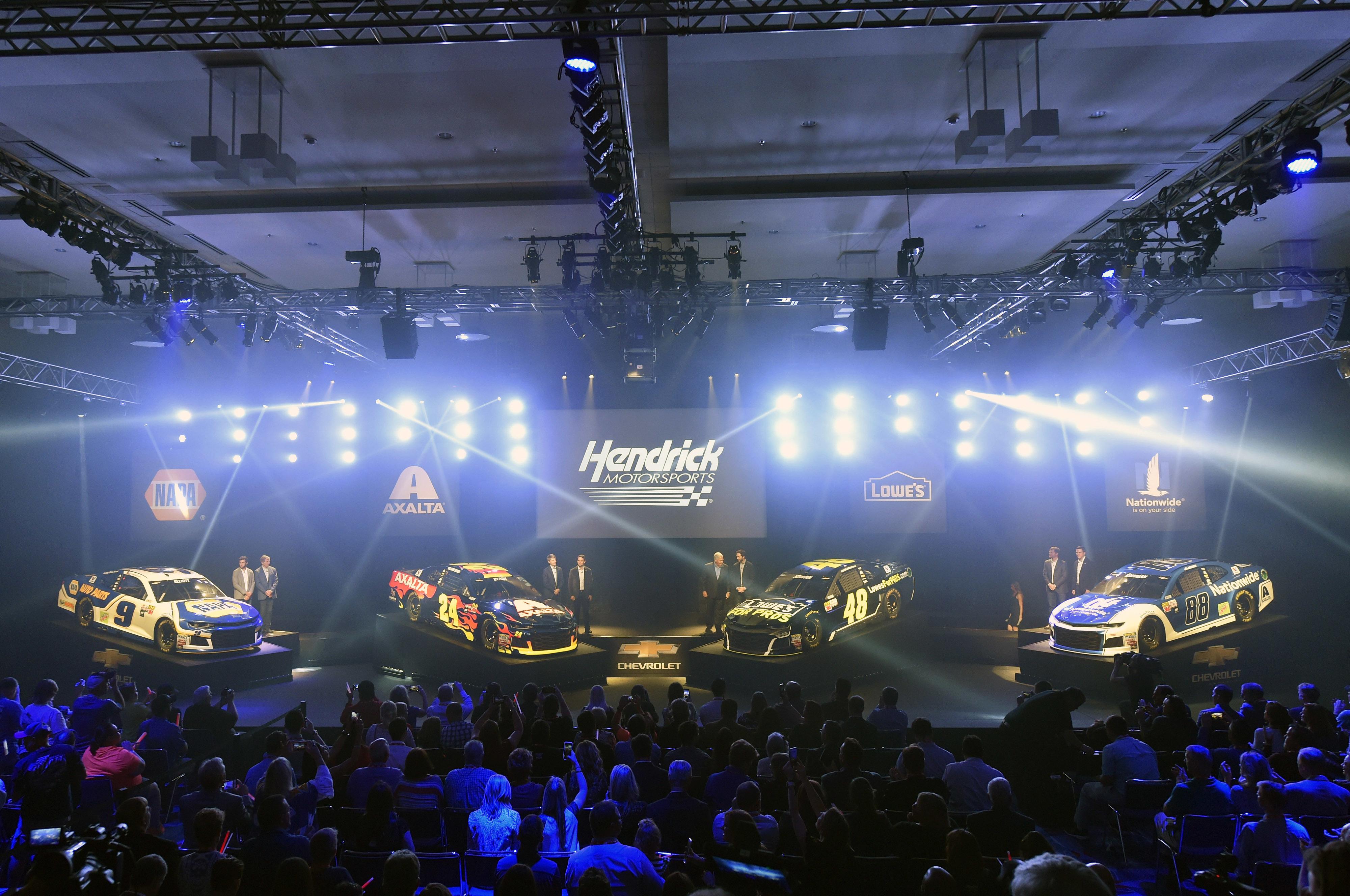 Hendrick Motors Of Charlotte >> 2018 Schemes Revealed In Thrilling Fashion Hendrick Motorsports