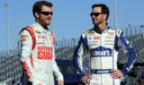 Earnhardt, Johnson in Valvoline's truck build