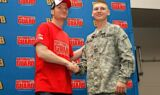 Earnhardt, National Guard visit Kansas high school