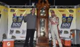 Earnhardt celebrates in Victory Lane at Martinsville