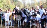 Johnson joins Virginia students for trout release