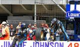 Jimmie Johnson and the No. 48 team at Indy