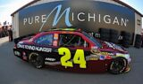 Jeff Gordon and the No. 24 team at Michigan