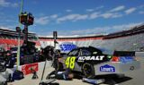 No. 48 team at Bristol Motor Speedway