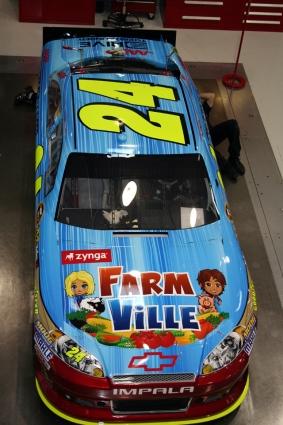 Richard Petty Motorsports >> FarmVille on Jeff Gordon's No. 24 Chevy at Bristol ...