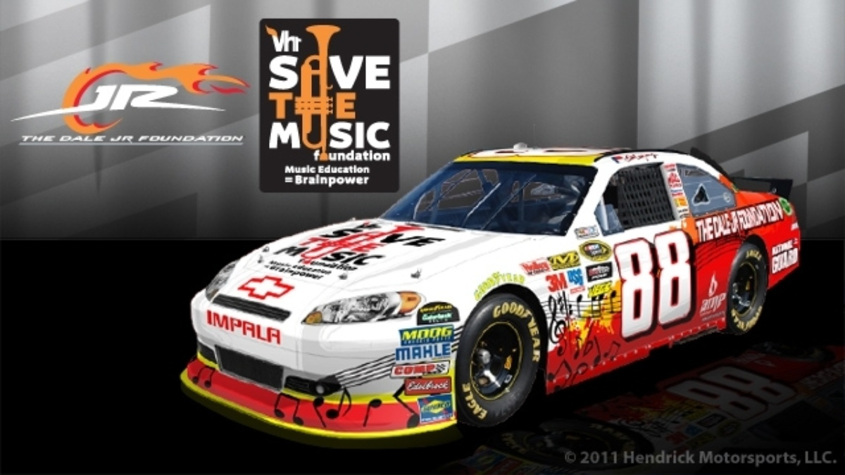 Earnhardt bringing music to schools with grant, paint scheme dedicated to foundation