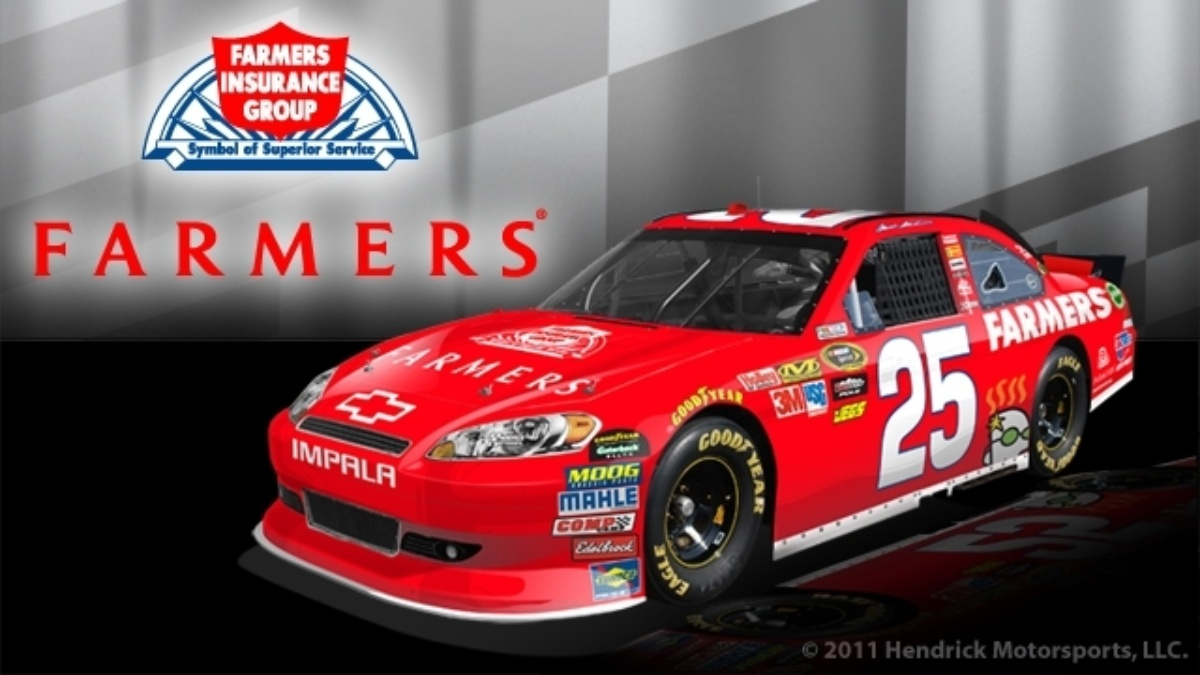 Farmers Insurance partners with Hendrick Motorsports