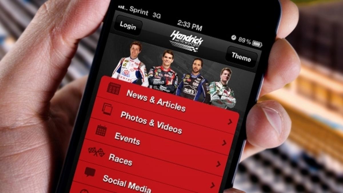 Get the new, free Hendrick Motorsports mobile app