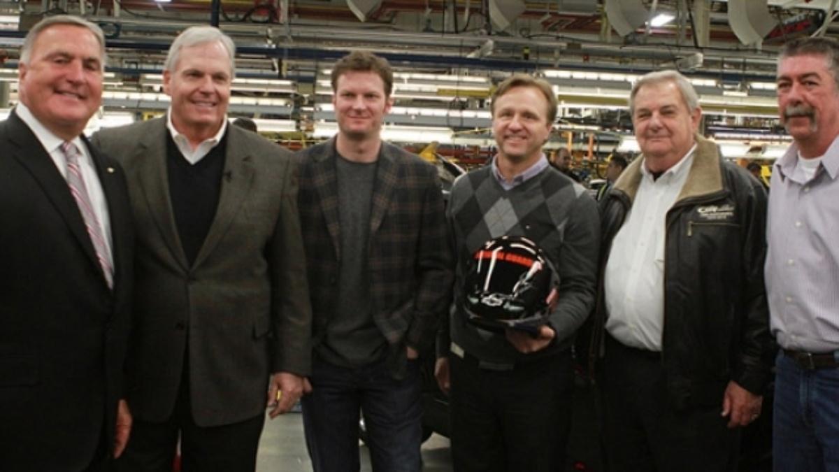 Hendrick, Earnhardt visit Chevy's Oshawa Assembly Plant