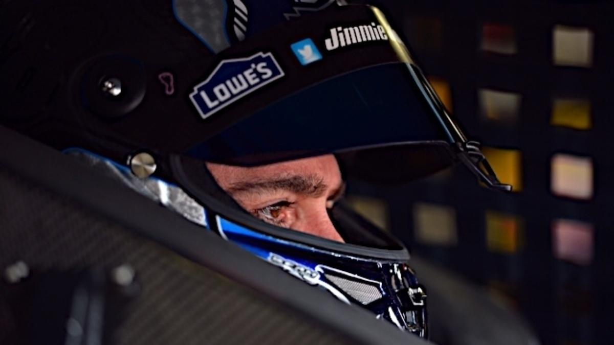 Jimmie Johnson wins pole position at Pocono Raceway