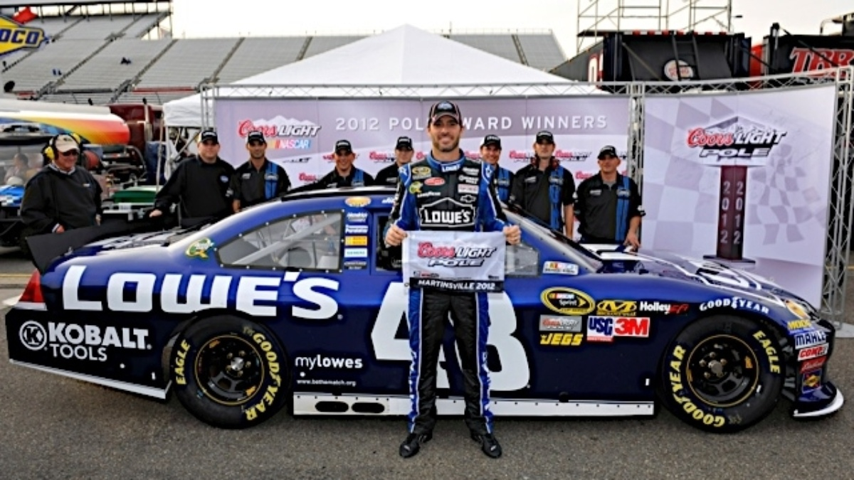 Jimmie Johnson wins the pole at Martinsville