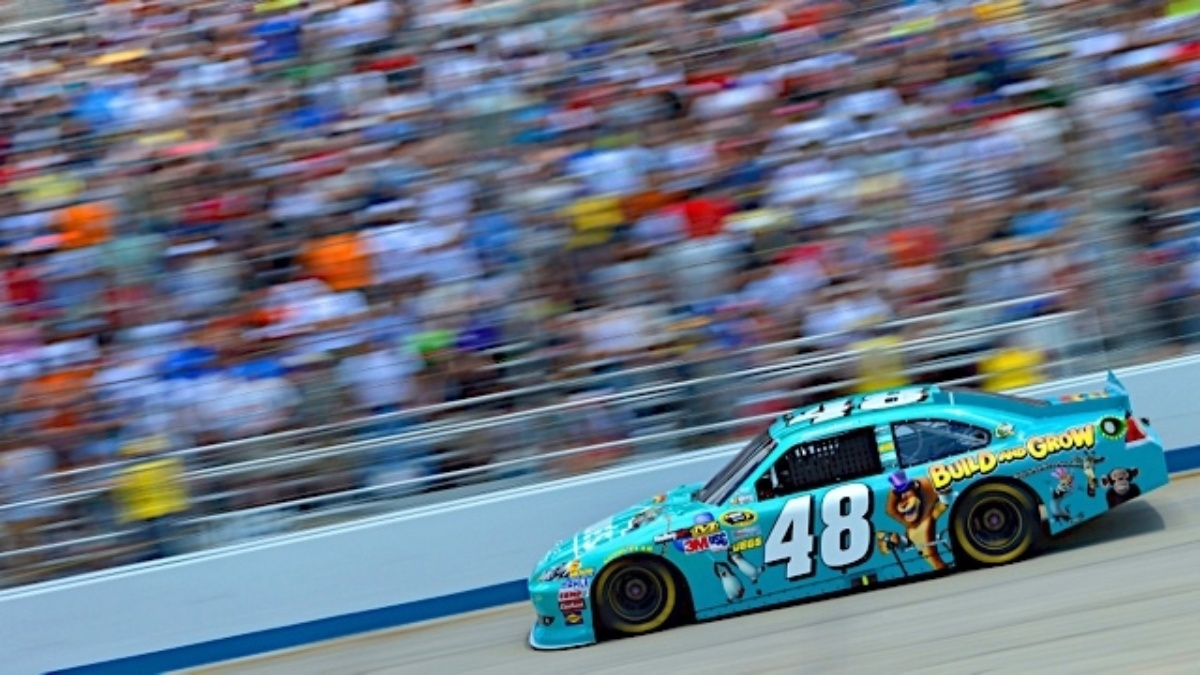 Johnson wins at Dover, teammates in top 13