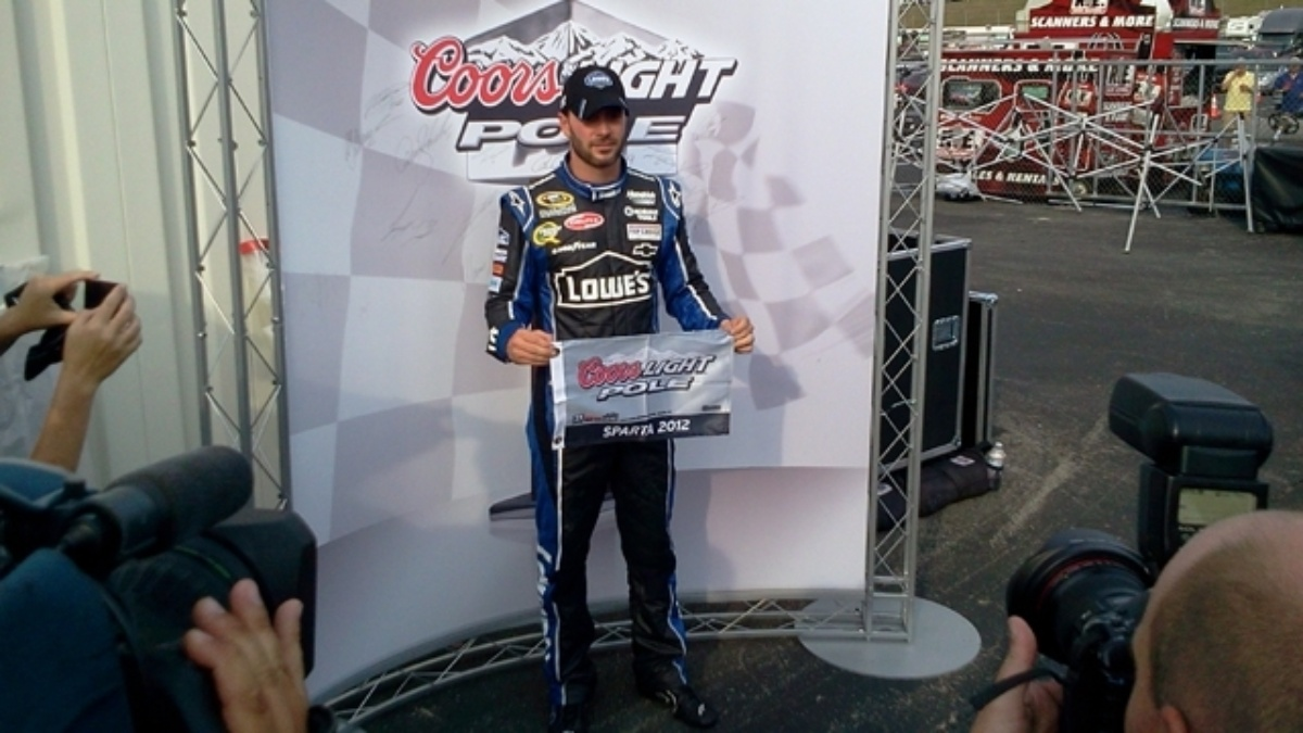 Johnson wins first career pole at Kentucky