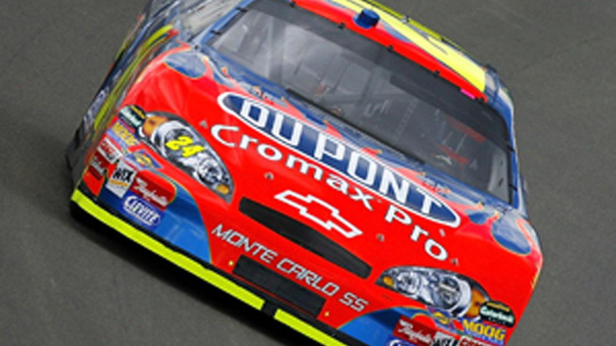 Jeff Gordon Earns California Pole Position