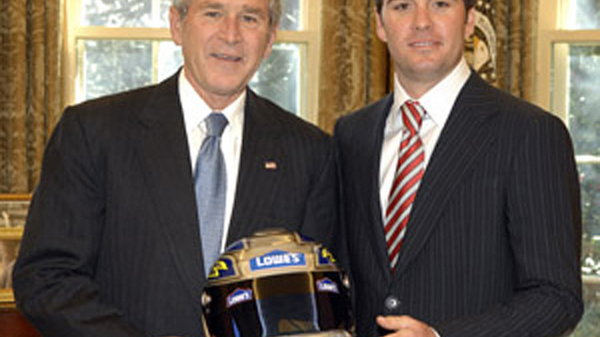 Jimmie Johnson Makes White House Visit