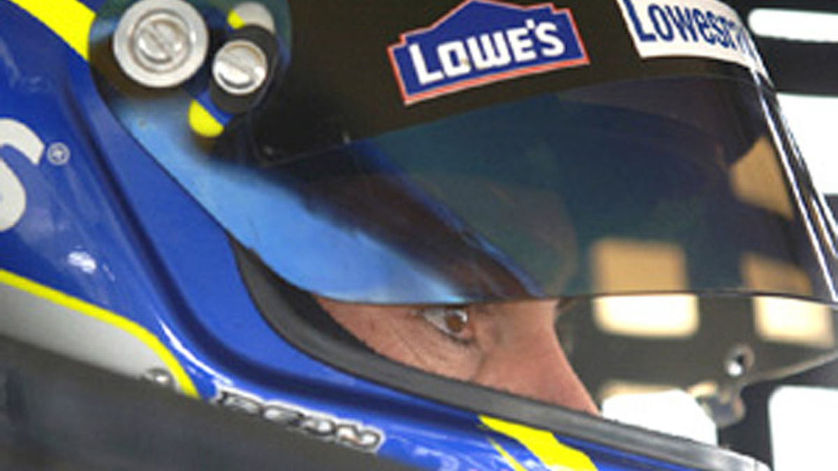 Johnson Sets Pace in Busch Series Testing at Lowe's