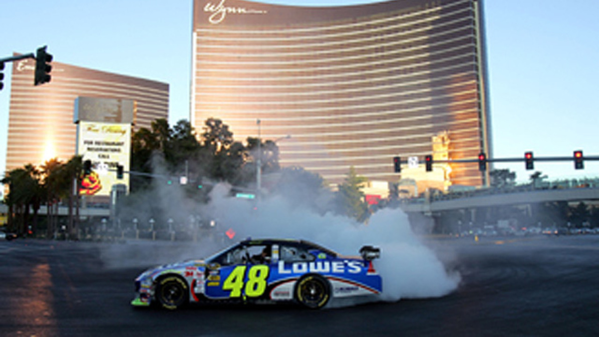 Johnson does an extreme burnout on Day 4 of Champion's Week