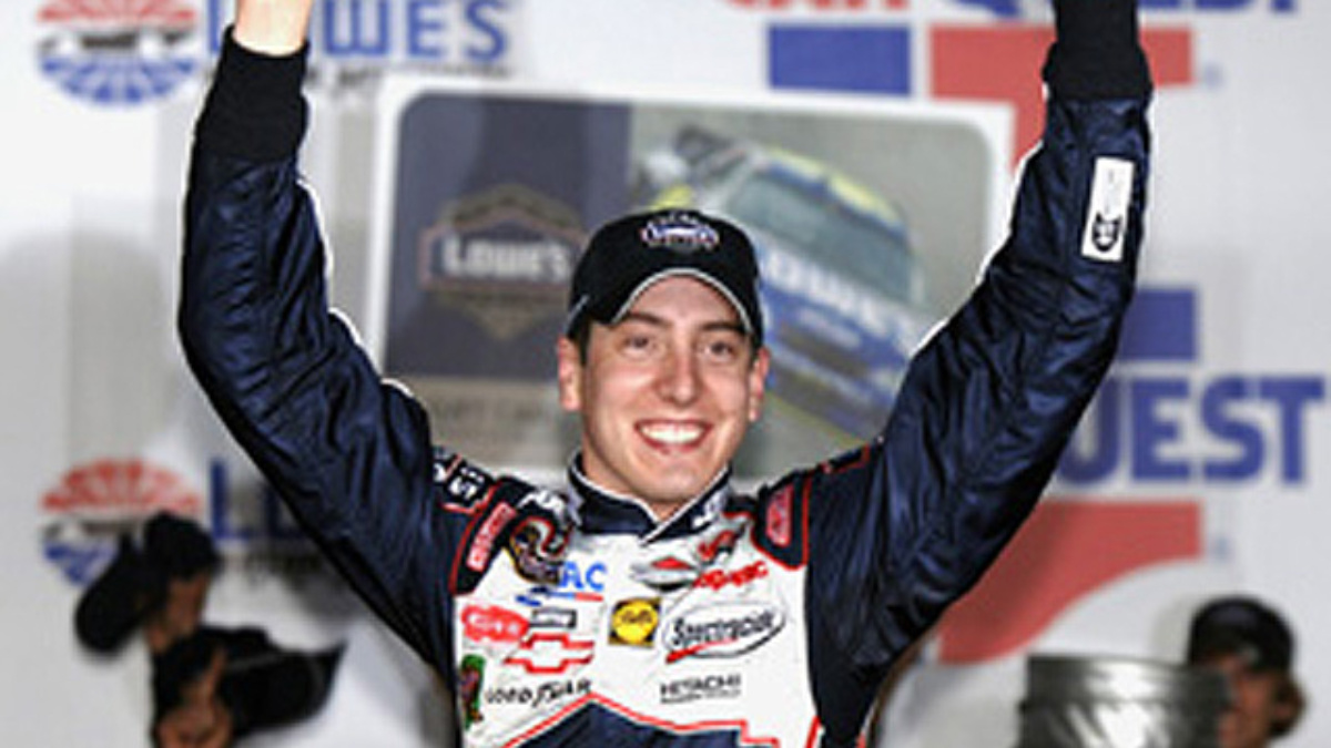 Kyle Busch Wins Again at Lowe's Motor Speedway
