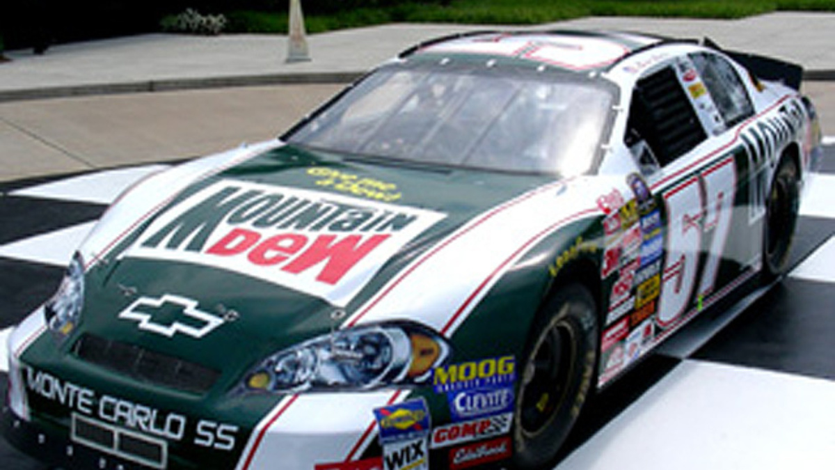 mountain dew honoring darrell waltrip at michigan hendrick motorsports