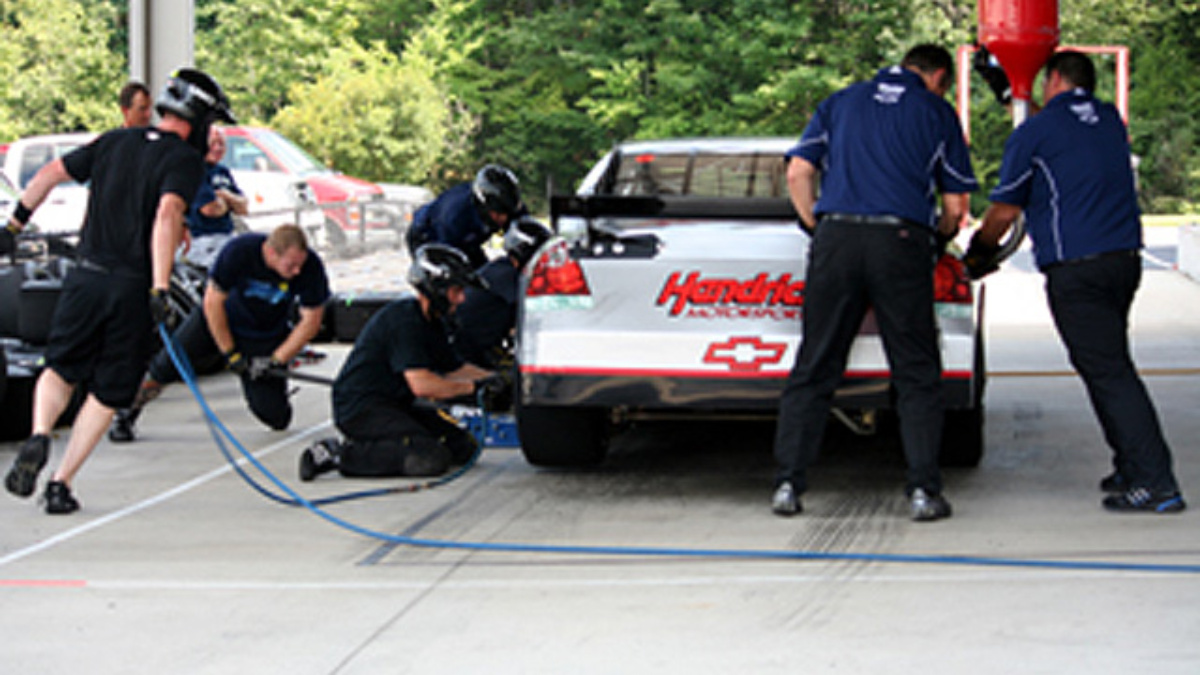 Preparing for the pits at Watkins Glen