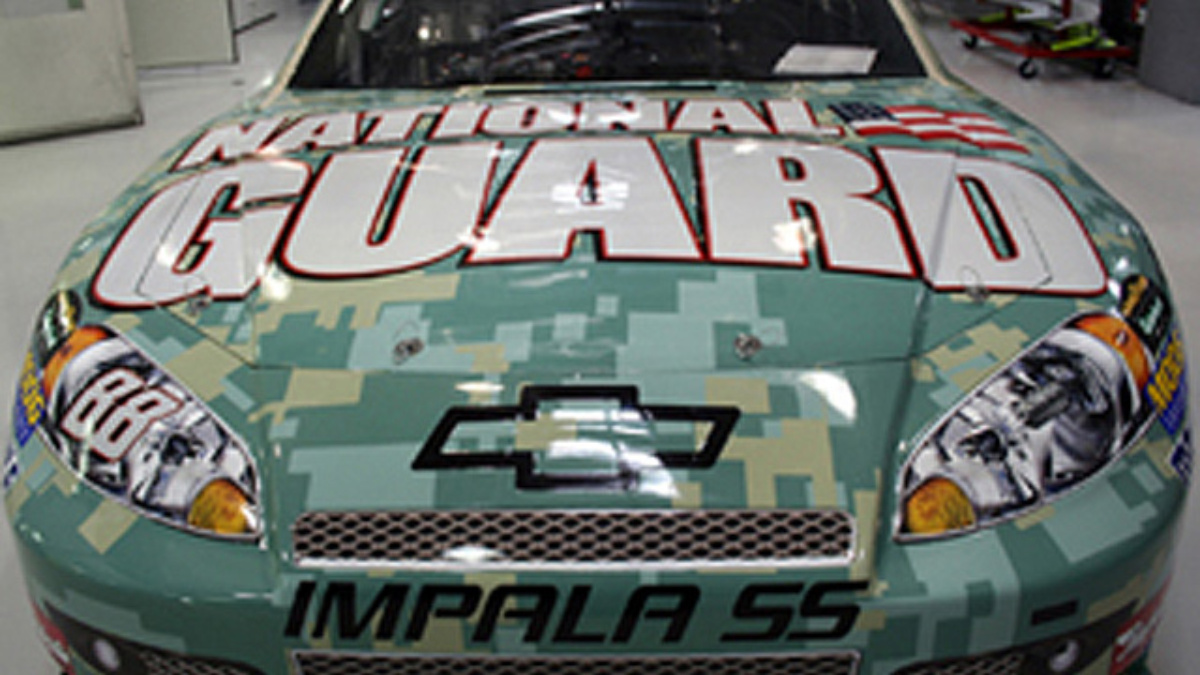 The No. 88 Chevrolet goes camouflage this weekend