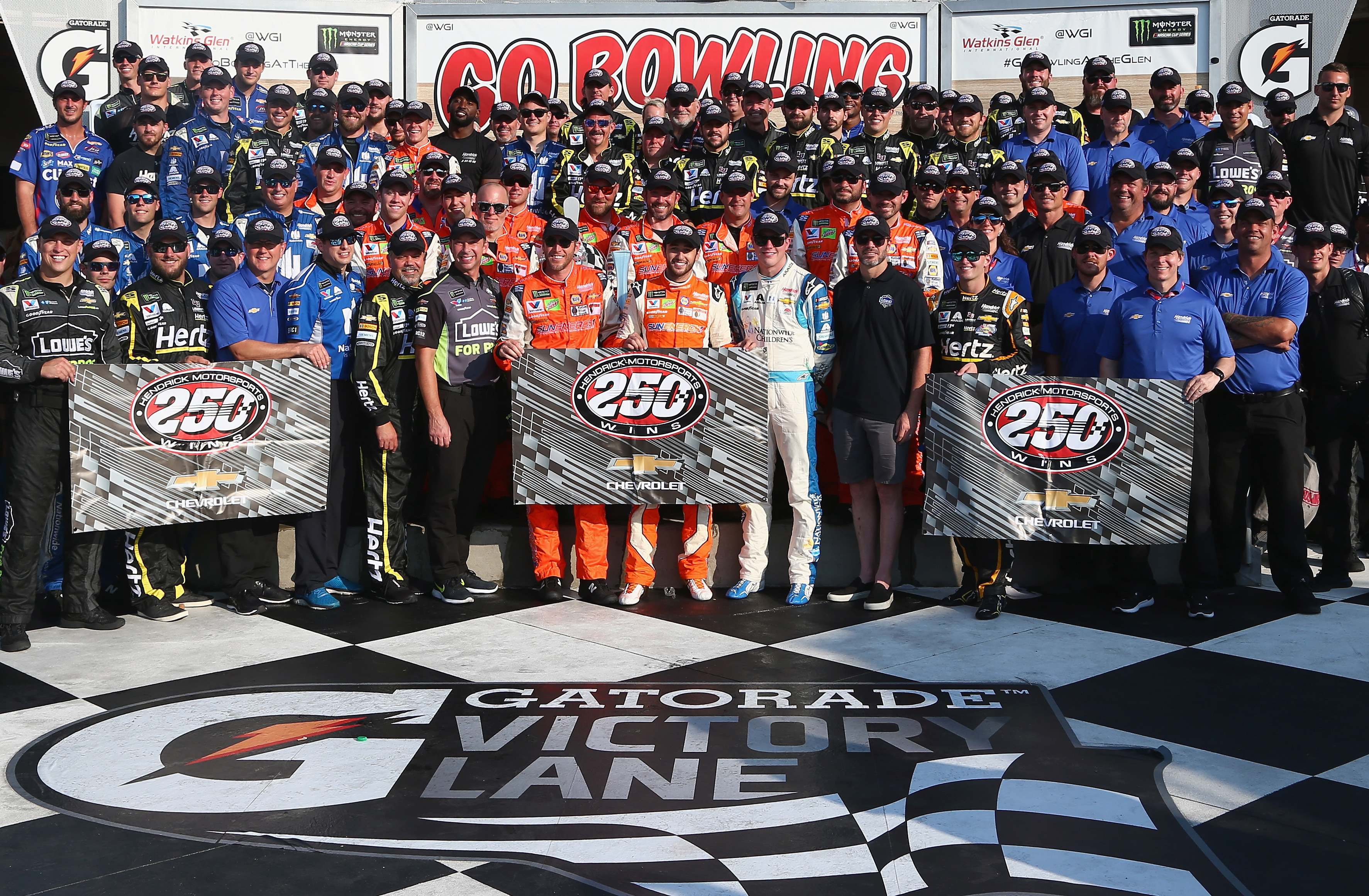 hendrick motorsports becomes second team in cup series history to