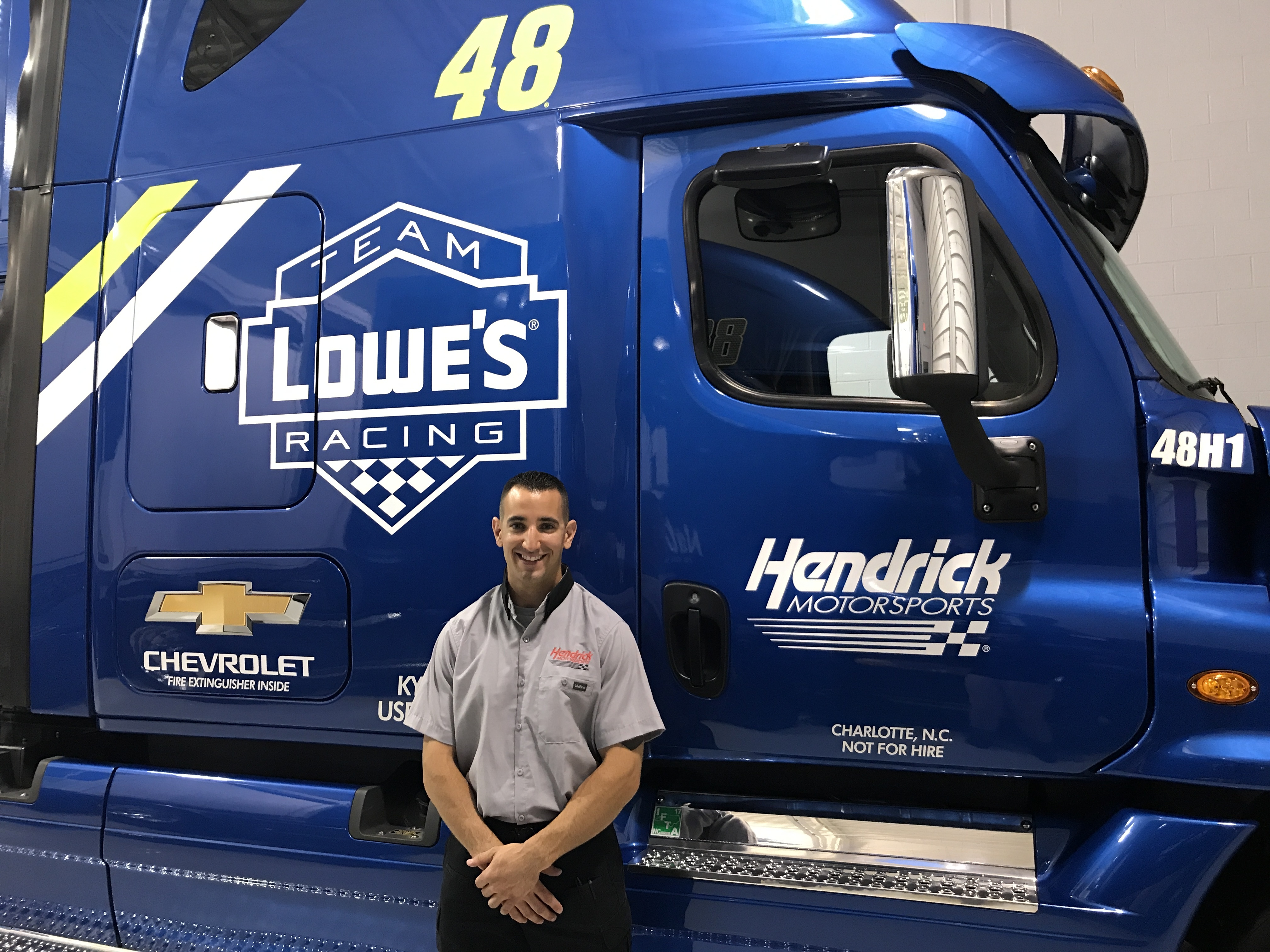 fast five get to know the no 48 team hauler driver hendrick