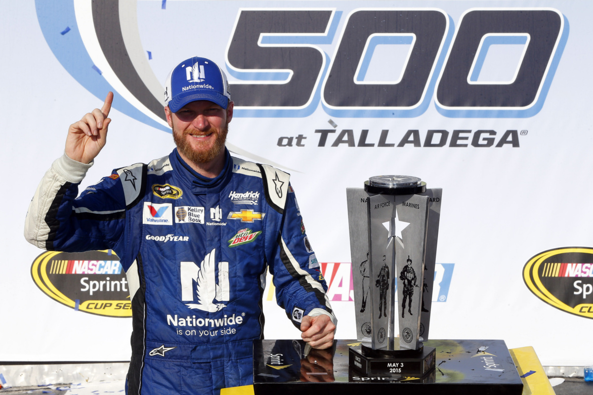 History on Earnhardt\'s mind in Talladega Victory Lane | Hendrick ...
