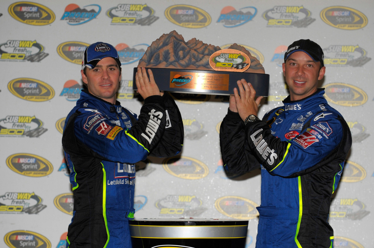 Snapshots from Victory Lane in Phoenix