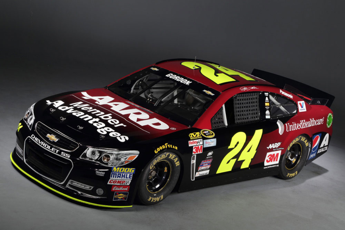 gordon's no. 24 chevy ss gets new look for six races including this