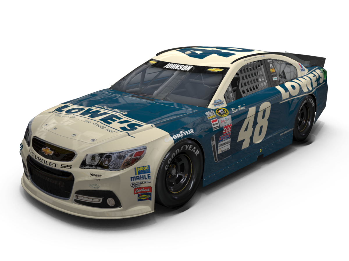 Johnson S Throwback No 48 Lowe S Chevrolet Ss Unveiled Hendrick Motorsports