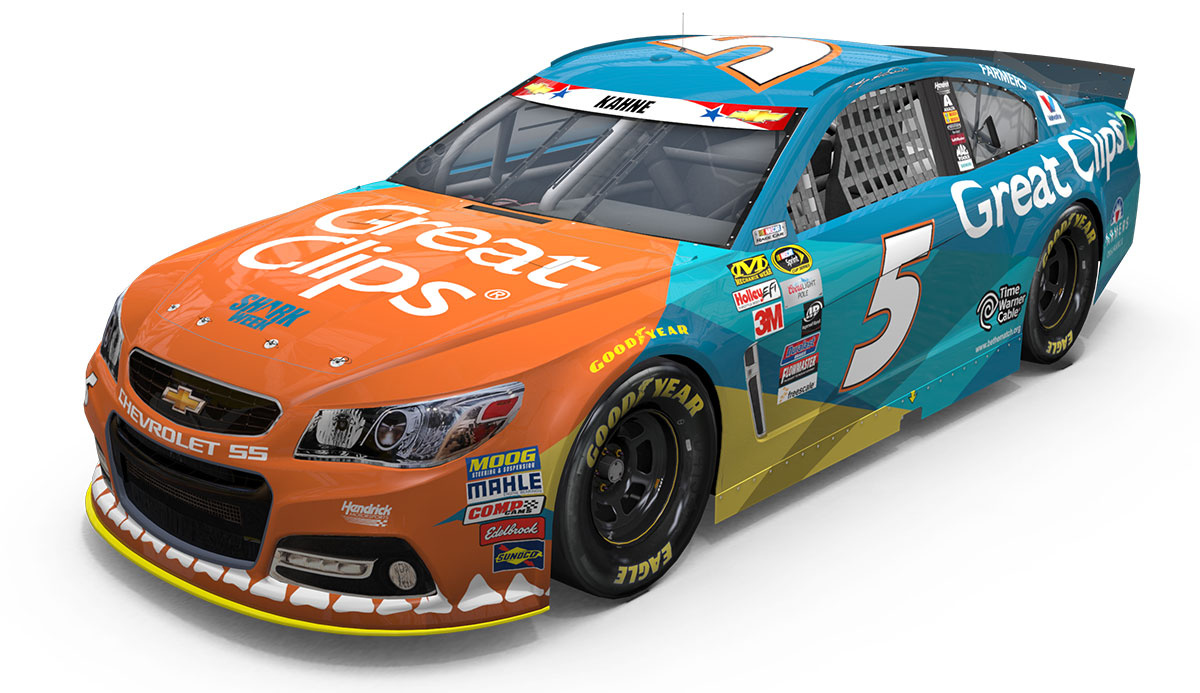 Shark Week Comes Early For Kahne S No 5 Chevy Ss Hendrick