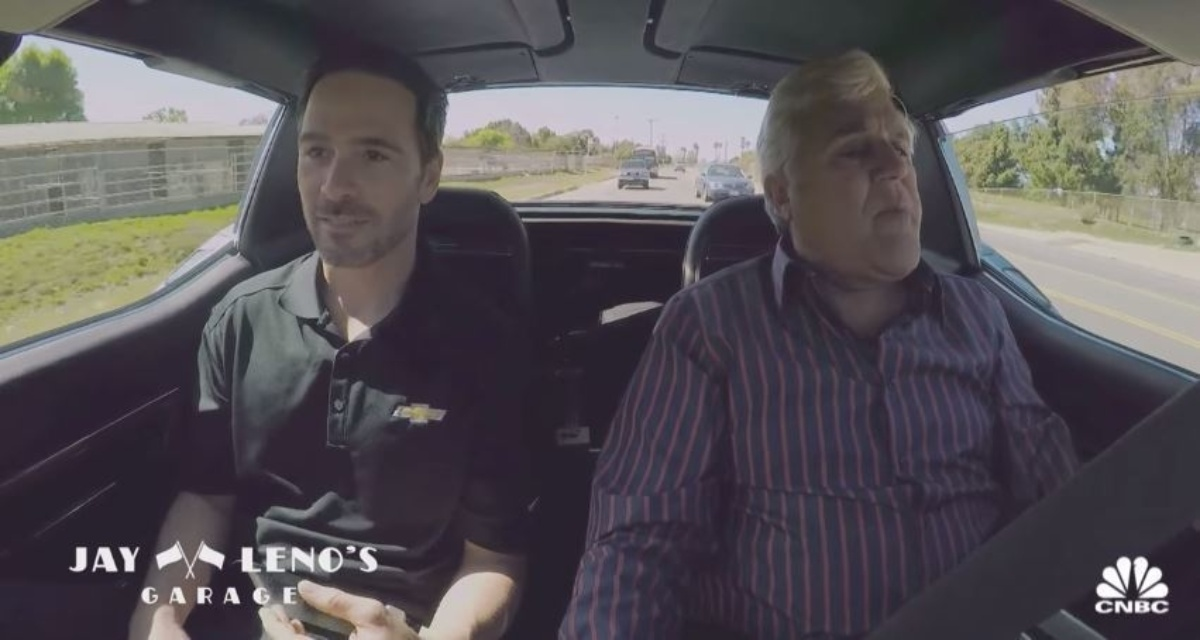 Johnson Takes A Spin In His 1971 Corvette For Jay Leno S Garage