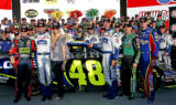 History of yellow No. 48 in Victory Lane