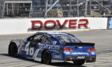 Boom! Confetti for Johnson in Dover Victory Lane