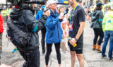 Behind the scenes with Johnson at the Boston Marathon