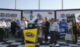 Inside Victory Lane for Johnson's milestone celebration