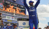 Johnson, No. 48 team celebrate victory Texas style