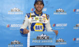 Elliott celebrates pole at Bristol