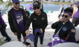 Johnson visits Ally Beach setup at Homestead
