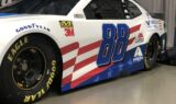 Behind the scenes of Bowman's Valvoline patriotic unveil