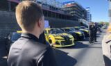 Byron takes custom Hertz-Hendrick Motorsports Camaros for a ride