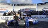 Winner winner! Check out Larson celebrating momentous ROVAL victory