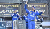 Three in a row! Look as Larson celebrates storybook Kansas win