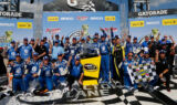 Earnhardt's Talladega Victory Lane celebration