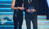 Johnson presents award at 2017 CMA Awards