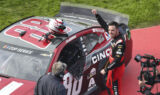 Bowman, No. 88 team celebrates commanding Fontana win