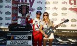 Cue the guitar solo! Check out Larson celebrating his Nasvhille win