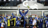 Earnhardt hits Victory Lane at Daytona