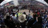 Johnson, No. 48 team celebrate victory Texas style